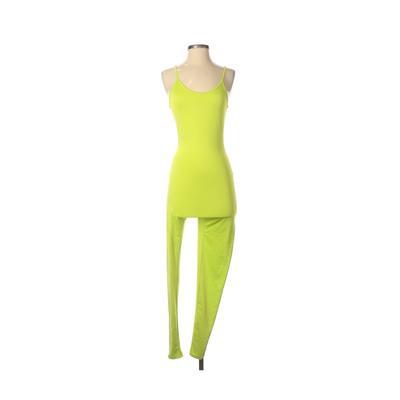 impulsive Jumpsuit: Green Solid ...