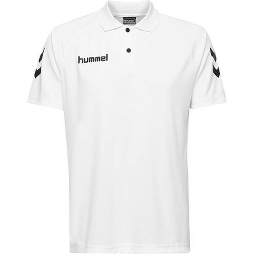 HUMMEL Herren Polo CORE FUNCTIONAL POLO, Größe S in Weiß