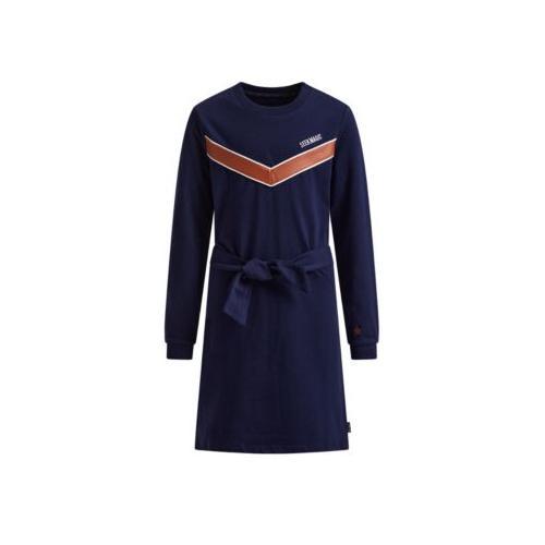 Mädchenkleid mit Muster Kleider blau Mädchen Kinder