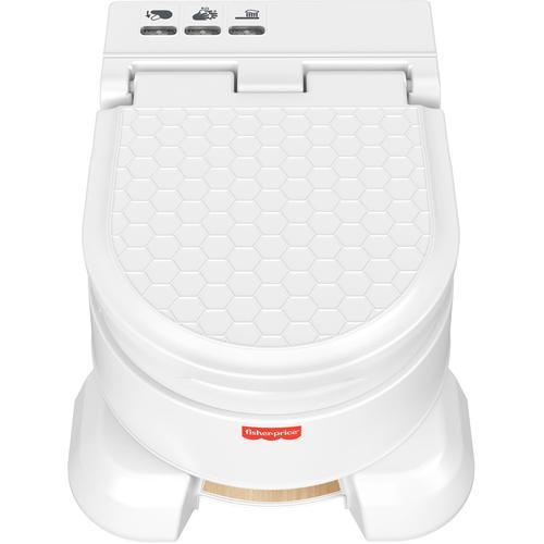 Fisher-Price Töpfchen 4-in-1 Premium Töpfchen, mit Soundeffekten und Aktivitätstimer weiß Baby Fisher Price