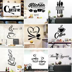 Stickers muraux en vinyle café Cuisine   Stickers muraux pour Cuisine salle de Cuisine, accessoires