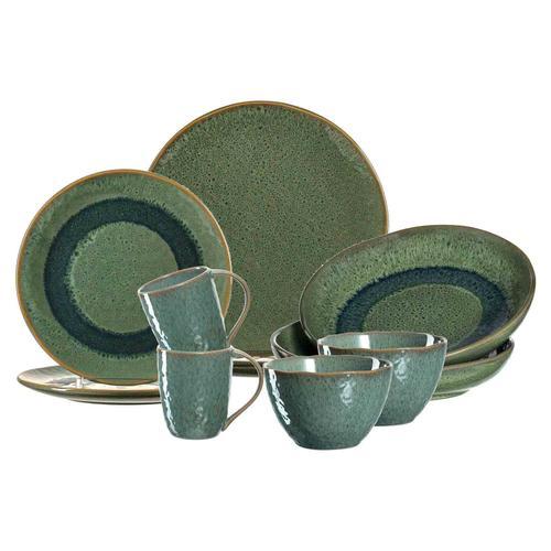 Leonardo MATERA Geschirr Tafelservice grün 10-teilig