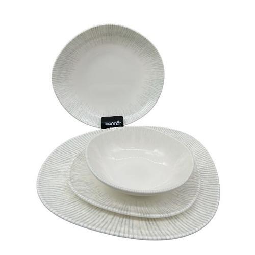 Tafelservice Geschirrset Tellerset 6 Personen Porzellan 24er Set Bonna Iris Vago Premium Geschirr