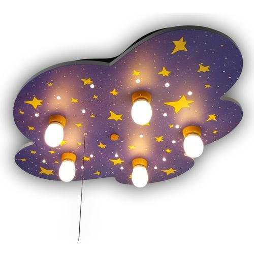 niermann Deckenleuchte Nachthimmel, E14, 1 St., Nachthimmel bunt Kinder Kinderzimmerleuchten Lampen Leuchten
