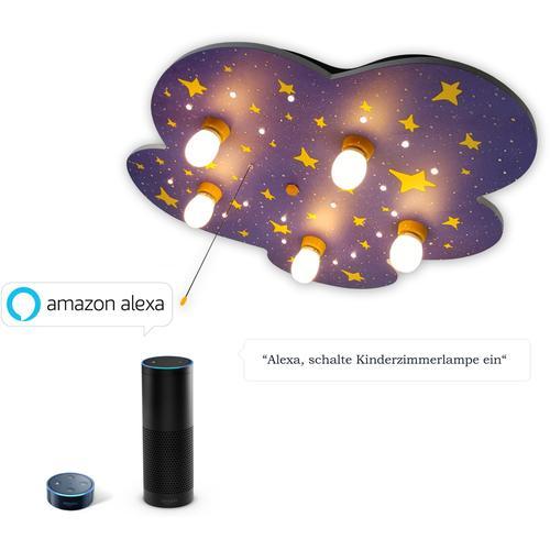 niermann Deckenleuchte Nachthimmel, E14, 1 St., Nachthimmel 'Amazon Alexa kompatibel' bunt Kinder Kinderzimmerleuchten Lampen Leuchten