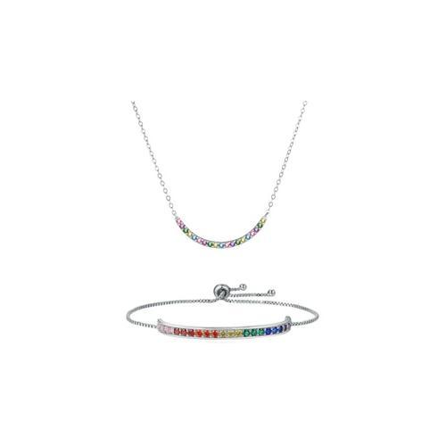 Halskette oder Armband mit Swarovski®-Kristallen: 1x Halskette