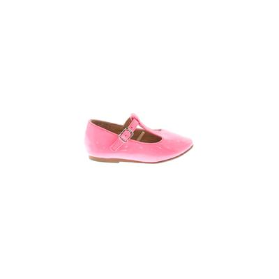 The Children's Place Flats: Pink Solid Shoes - Size 5