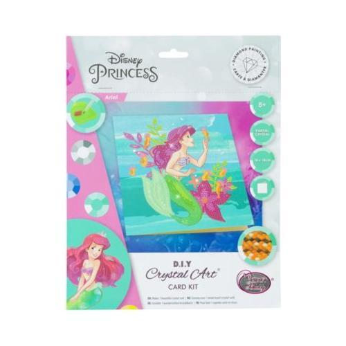 Crystal Art Disney Ariel, 18 x 18 cm Kristallkunst-Karte