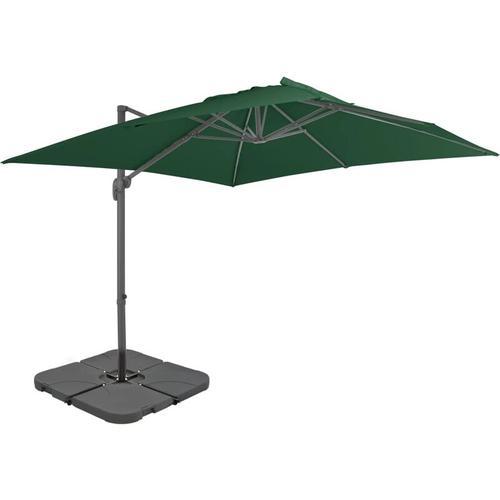 Sonnenschirm mit Schirmständer Grün - Grün