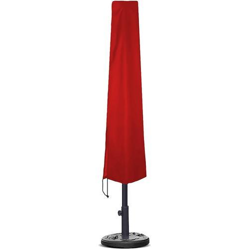 Planesium Abdeckplane für Sonnenschirm Rot 190cm x Ø 26cm / 57cm Hülle Abdeckung Schutzhülle Haube Ampelschirm
