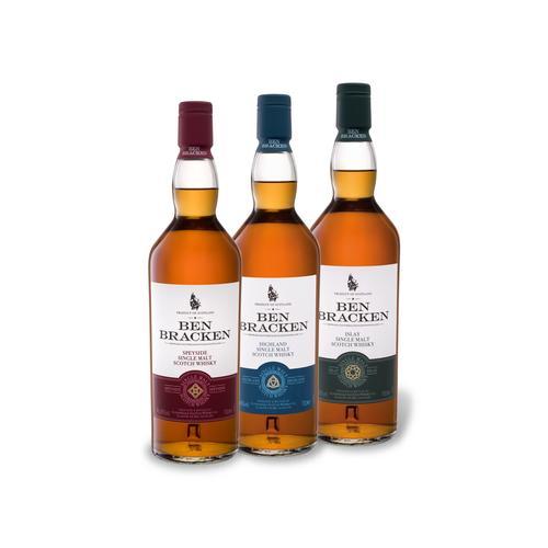 Ben Bracken Single Malt Scotch Whiskypaket 3 x 0,7-l-Flasche
