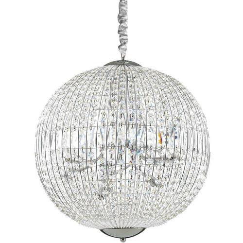 01-ideal Lux - LUXOR Chrom Kristallaufhängung 12 Lichter