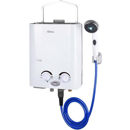 Tragbarer Gas-Durchlauferhitzer PGWH 1010 Weiß - Qlima