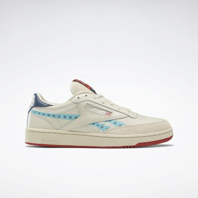 Reebok Men's Club C Vote Shoes in Paper White/Clay Tint/Paynes Grey Size 9 - Court Shoes