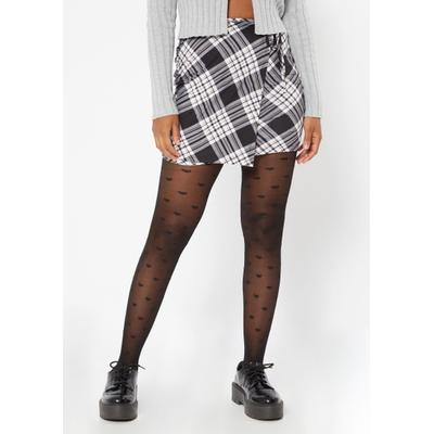 Rue21 Womens Black Plaid Print Wrap Skirt - Size Xl