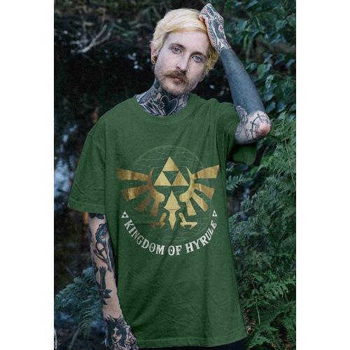 The Legend Of Zelda - Golden Hyrule Green - - T-Shirts