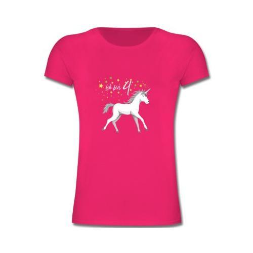 Kindergeburtstag Geburtstag Geschenk 4. Geburtstag Einhorn T-Shirts Kinder fuchsia Kinder