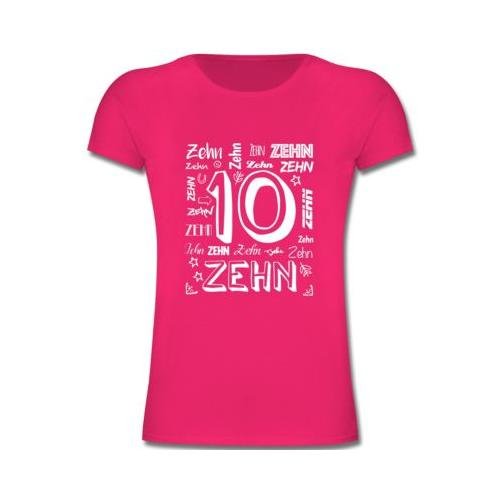Kindergeburtstag Geburtstag Geschenk 10. Geburtstag Zahlen T-Shirts Kinder fuchsia Kinder