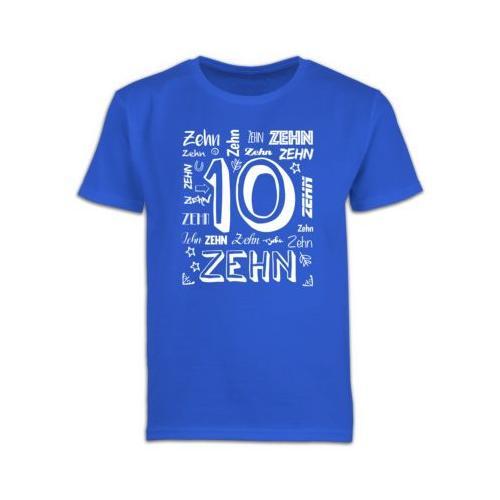 Kindergeburtstag Geburtstag Geschenk 10. Geburtstag Zahlen T-Shirts Kinder blau Kinder