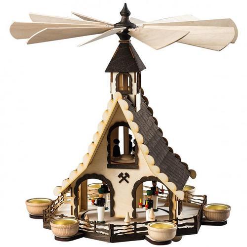 """Teelicht Pyramide """"Bergmänner"""""""