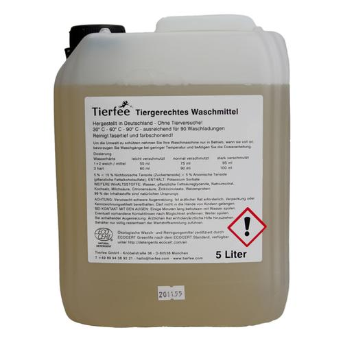 Tierfee Ökologisches Waschmittel - 5 Liter