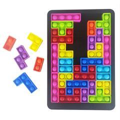 27PCS Tetris Puzzle Jouets Soulager Stress Jouets Anti-stress Jouets Pousser Bulle Sensorielle
