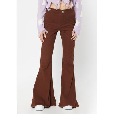 Rue21 Womens Brown High Rise Mega Flare Pants - Size 11