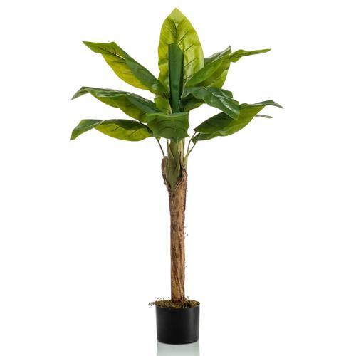 Emerald Künstlicher Bananenbaum 110 cm Grün
