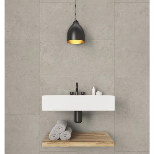 Grosfillex Wandfliesen Gx Wall+ 11 Stk. Beton 30x60 cm Beige