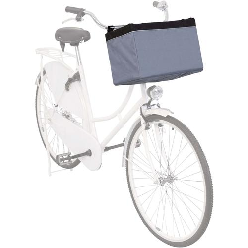 TRIXIE Fahrradkorb Vorne für Haustiere 38x25x25 cm Grau