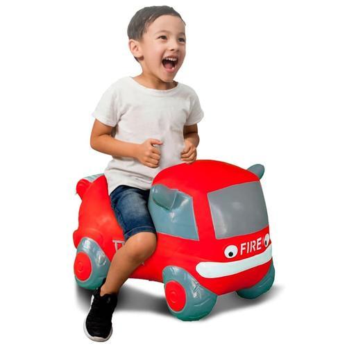 Jamara Hüpfspielzeug Feuerwehrauto mit Pumpe Rot