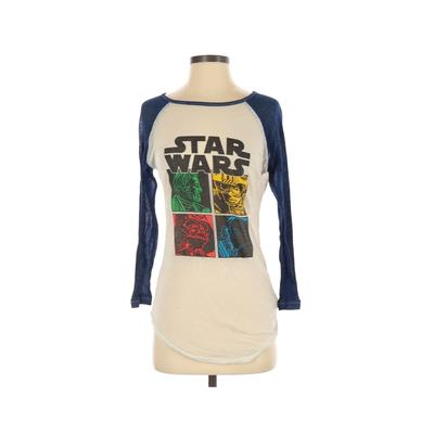 Star Wars 3/4 Sleeve T-Shirt: White Graphic Tops – Size Small