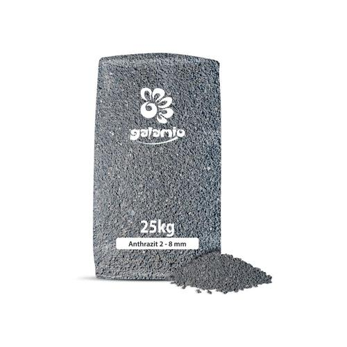 Lavamulch Anthrazit 2 - 8 mm | 40 x 25l Sack 1.000l Palette - Galamio