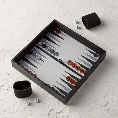 Leather Box Backgammon Set - Fro...
