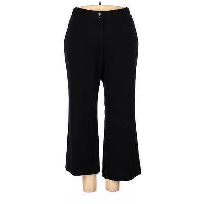 Lane Bryant Casual Pants - High Rise: Black Bottoms - Size 4 Petite
