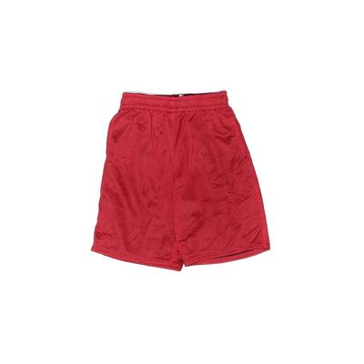 Athletic Works Athletic Shorts: Red Solid Sporting & Activewear - Size Medium