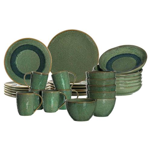 Leonardo MATERA Geschirr Tafelservice grün 30-teilig