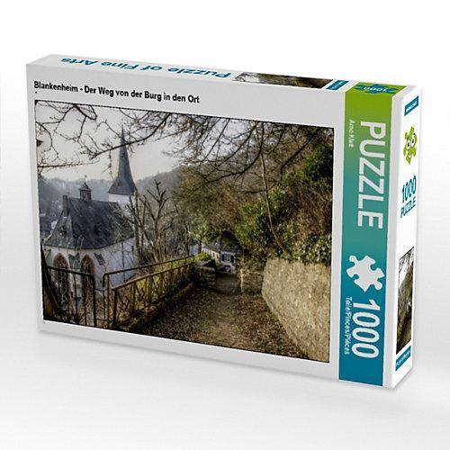 Blankenheim - Der Weg von der Burg in den Ort Foto-Puzzle Bild von Arno Klatt Puzzle