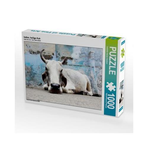 Indien, heilige Kuh Foto-Puzzle Bild von Gabriele Gerner-Haudum Puzzle