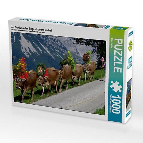 Der Schluss des Zuges kommt vorbei Foto-Puzzle Bild von Thilo Seidel Puzzle