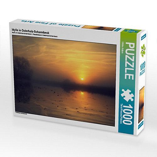 Idylle in Osterholz-Scharmbeck Foto-Puzzle Bild von Fotokunst Ulrike Adam Puzzle