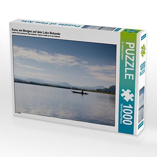 Kanu am Morgen auf dem Lake Mutanda Foto-Puzzle Bild von Hawkeyes-Pictures Puzzle