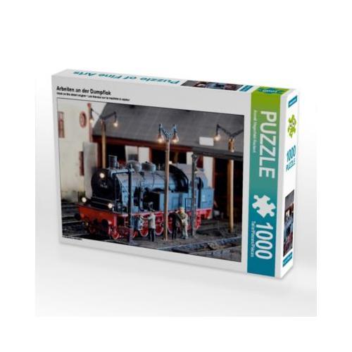 Arbeiten an der Dampflok Foto-Puzzle Bild von Anneli Hegerfeld-Reckert Puzzle