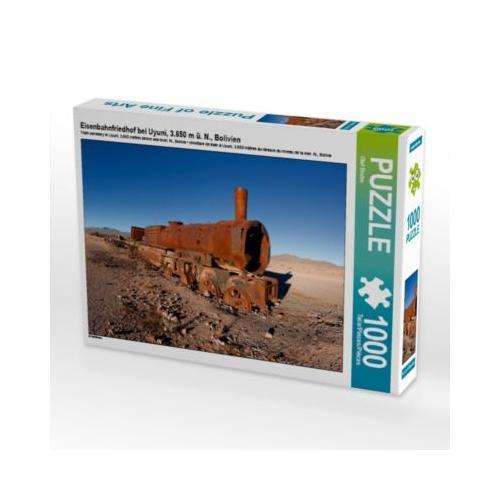 Eisenbahnfriedhof bei Uyuni, 3.650 m ü. N., Bolivien Foto-Puzzle Bild von Olaf Bruhn Puzzle