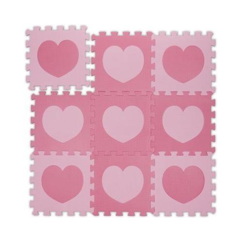 18-tlg. Puzzlematte Herz rosa