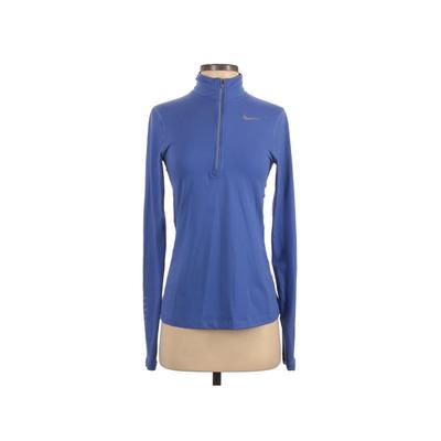 Nike Track Jacket: Blue Solid Ja...