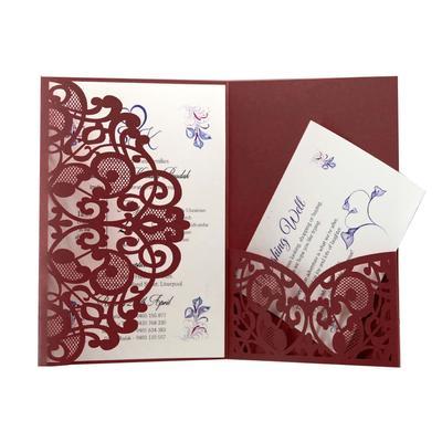 Carte d'invitation de mariage él...