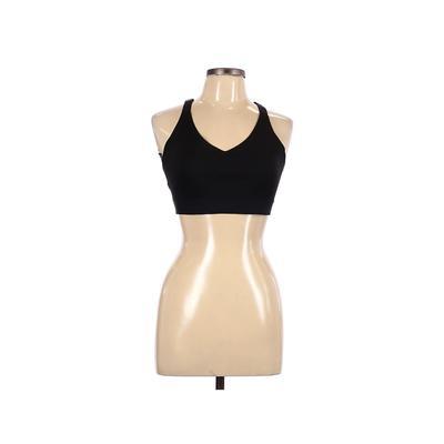 Victoria Sport Sports Bra: Black Solid Activewear - Size Large