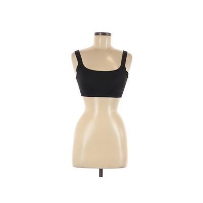 Victoria Sport Sports Bra: Black Solid Activewear - Size Medium