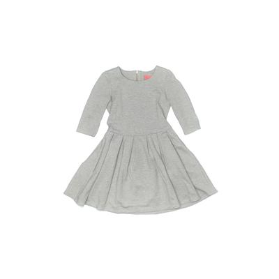 Ellie Girl Dress - Fit & Flare: Gray Solid Skirts & Dresses - Used - Size Medium